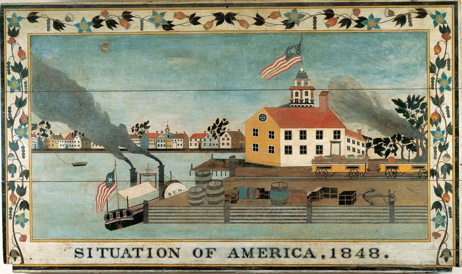 American Primitive Oil Paintings