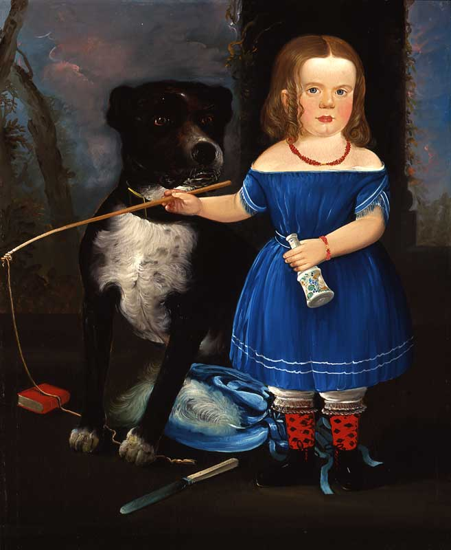 American Artist Painting Of A Dog