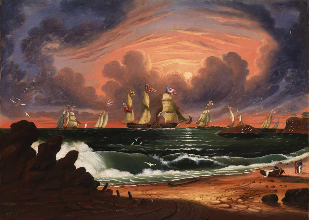 Thomas Chambers 1808 1869 American Marine And Landscape