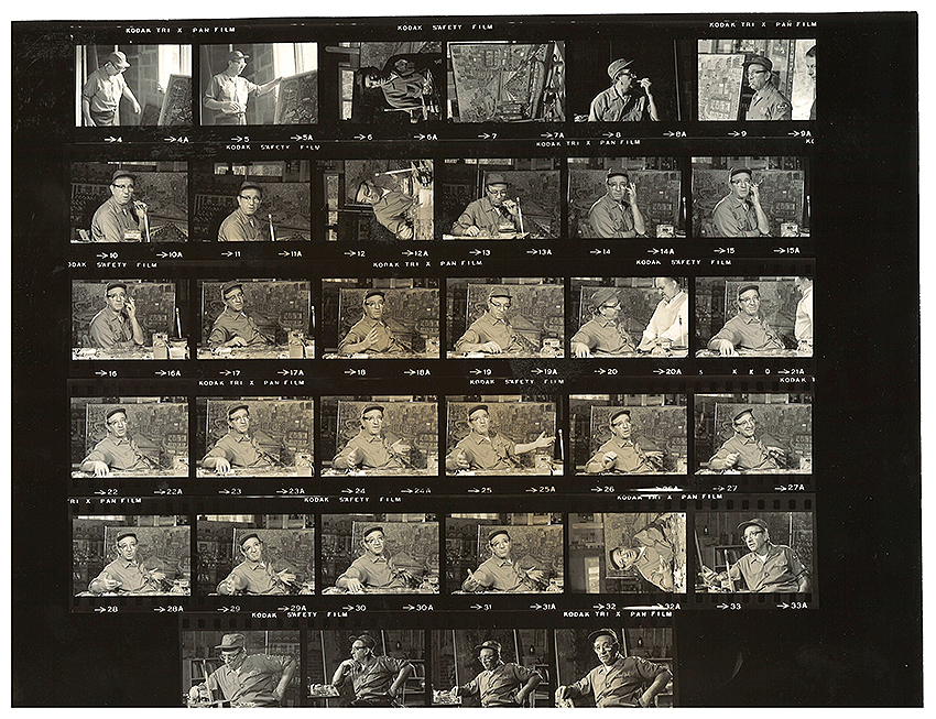 5.Contact Sheet with Fasanella