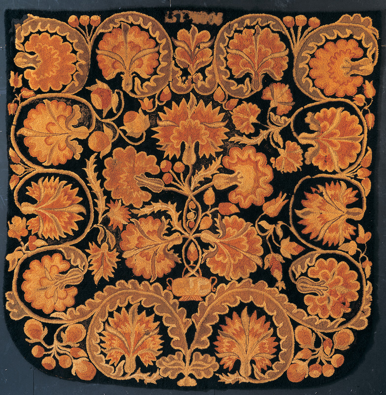 Great Bed Rug Attributed To Deborah Leland Fairbanks (1739u20131791) And Unidentified  Family Member. Littleton, New Hampshire 1803. Wool 101 X 96 In. American  Folk ...
