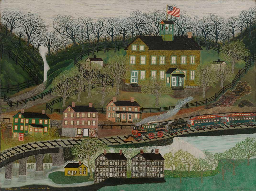 Folk Art Fishing Village Paintings